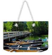 Jenny Lake Boats Weekender Tote Bag