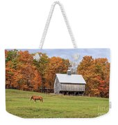 Jericho Hill Vermont Horse Barn Fall Foliage Weekender Tote Bag