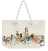 Jersey City New Jersey Skyline Weekender Tote Bag