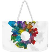 Jersey City Small World Cityscape Skyline Abstract Weekender Tote Bag