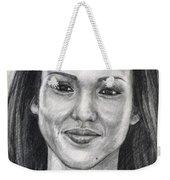 Jessica Alba Portrait Weekender Tote Bag