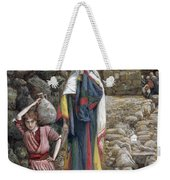 Jesus And His Mother At The Fountain Weekender Tote Bag by Tissot