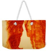 Jesus And Our Lady On Calvary Weekender Tote Bag
