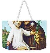 Jesus And Saint Anthony Weekender Tote Bag