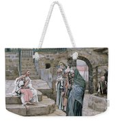 Jesus And The Little Child Weekender Tote Bag by Tissot