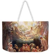 Jesus Ascending Into Heaven Weekender Tote Bag by William Brassey Hole