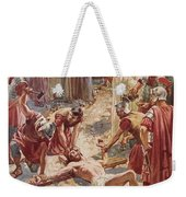 Jesus Being Crucified Weekender Tote Bag