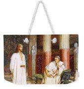 Jesus Being Interviewed Privately Weekender Tote Bag