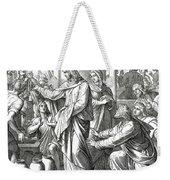 Jesus Changes Water Into Wine, Gospel Of John Weekender Tote Bag