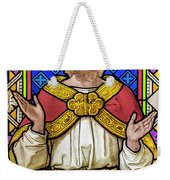 Jesus Christ Stained Glass Weekender Tote Bag