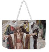 Jesus Found In The Temple Weekender Tote Bag by Tissot