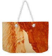Jesus Meets Mother Mary On The Road To Calvary Weekender Tote Bag