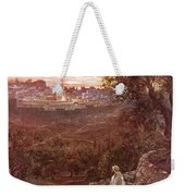 Jesus On The Mount Of Olives Weekender Tote Bag by William Brassey Hole
