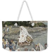 Jesus Preaching By The Seashore Weekender Tote Bag by Tissot