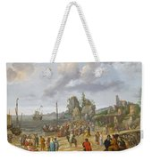 Jesus Preaching On The Shores Of The Sea Of Galilee Weekender Tote Bag