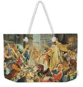 Jesus Removing The Money Lenders From The Temple Weekender Tote Bag