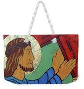 Jesus Takes Up His Cross Weekender Tote Bag