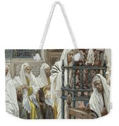 Jesus Unrolls The Book In The Synagogue Weekender Tote Bag
