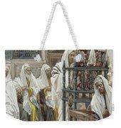 Jesus Unrolls The Book In The Synagogue Weekender Tote Bag