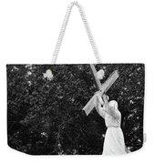 Jesus With Cross Weekender Tote Bag
