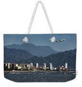 Jet Plane Taking Off From Puerto Vallarta Airport With Pacific O Weekender Tote Bag