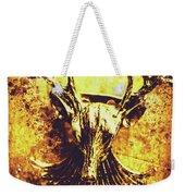 Jewel Deer Head Art Weekender Tote Bag