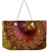 Jewel Gold  Fractal Spiral  Weekender Tote Bag