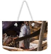 Jeweled Hand Skinning Fish Weekender Tote Bag