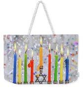 Jewish Holiday Hannukah Symbols - Menorah Weekender Tote Bag