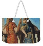Jewish Women At The Balcony In Algiers Weekender Tote Bag