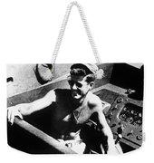 Jfk On Pt 109 Weekender Tote Bag by War Is Hell Store