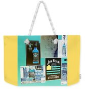 Jim Beam Signs On Display - Color Invert Weekender Tote Bag