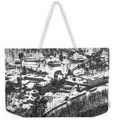 Jim Thorpe Pennsylvania In Winter In Black And White Weekender Tote Bag