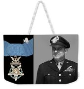 Jimmy Doolittle And The Medal Of Honor Weekender Tote Bag by War Is Hell Store