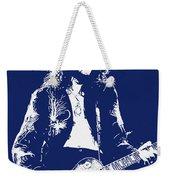 Jimmy Page In Blue Portrait Weekender Tote Bag