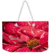 Jingle Bells 3 Poinsettia Weekender Tote Bag