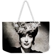 Joan Crawford, Hollywood Legend By John Springfield Weekender Tote Bag