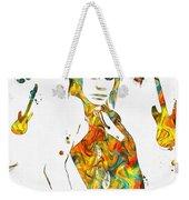 Joan Jett Colorful Paint Splatter Weekender Tote Bag