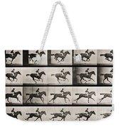 Jockey On A Galloping Horse Weekender Tote Bag