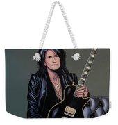 Joe Perry Of Aerosmith Painting Weekender Tote Bag