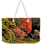 Joe-pye-weed Near Schroon River In New York Weekender Tote Bag