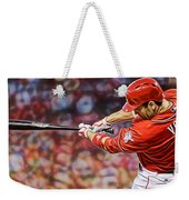 Joey Votto Baseball Weekender Tote Bag