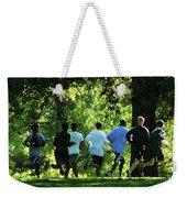 Joggers In The Park Weekender Tote Bag by Susan Savad