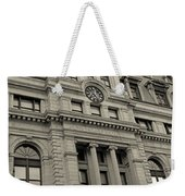 John Adams Courthouse Boston Ma Black And White Weekender Tote Bag