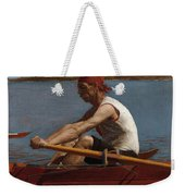John Biglin In A Single Scull Weekender Tote Bag