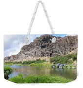John Day River Landscape In Summer Portrait Weekender Tote Bag