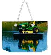 John Deere Mows The Water No 2 Weekender Tote Bag