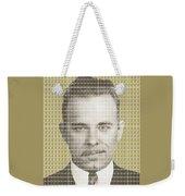 John Dillinger Mug Shot - Gold Weekender Tote Bag