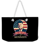 John F Kennedy American Banner Pop Art Weekender Tote Bag