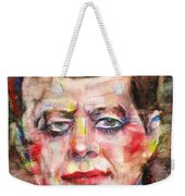 John F. Kennedy - Watercolor Portrait.3 Weekender Tote Bag